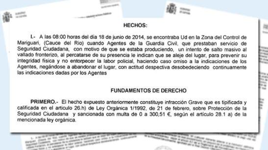 1176. Multa a periodistas por fotografiar lo que ocurre en la valla de Melilla