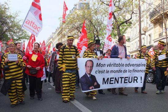 1185. ATTAC - 'Un banquier ministre de l'économie et de l'industrie  - l'impudence de MM. Hollande et Valls'