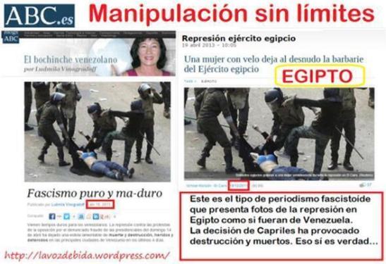1595. Manipulación mediatica - fotos falsas para desinformar sobre Venezuela