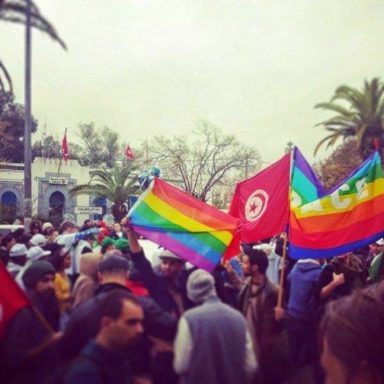 1672. Tunisie. Première manifestation gay, en marge du FSM