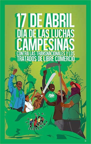 1703. El campesinado de todo el mundo se moviliza para luchar contra los acuerdos de libre comercio y defender la soberanía alimentaria