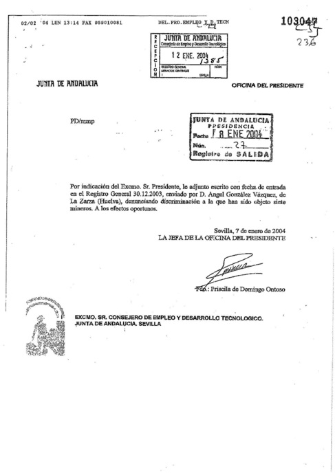 1709. La Guardia Civil acredita que Chaves conoce el fraude desde 2004