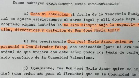 1760. Naseiro declaró ante notario que Aznar mandaba en la caja B del Partido Popular