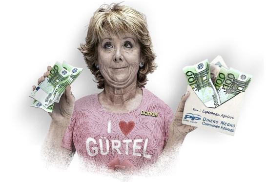 1793. Esperanza Aguirre y su marido ingresaron un cheque de cinco millones de euros cuando ella era presidenta