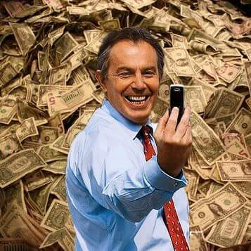 1827. Tony Blair asked for £ 330,000 to talk about hunger!