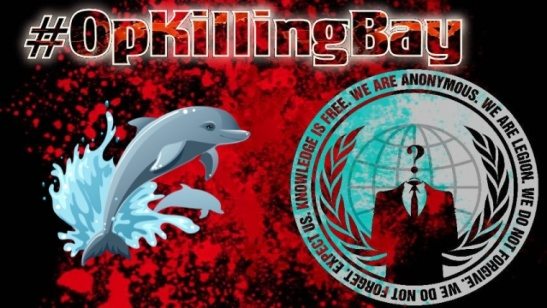 1948. Anonymous Shut Down Japanese Airport websites against Dolphin Slaughter