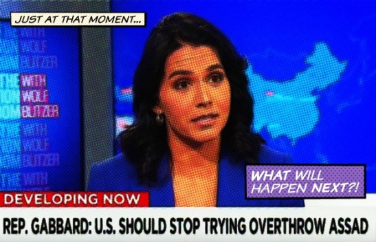 1961. Rep. Gabbard Admits CIA's Plot to Overthrow Assad Could Lead to WWIII with Russia on CNN