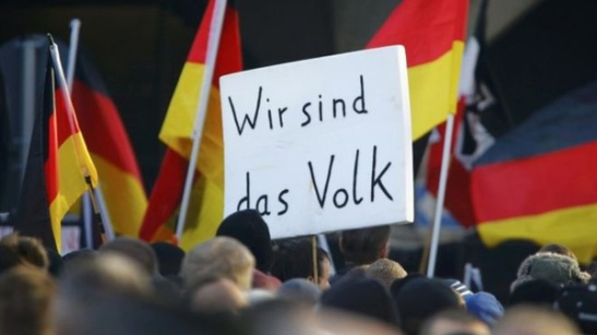 2077. Hundreds attend xenophobic PEGIDA rally in Cologne